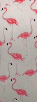 Pink flamingo pattern repeated several times to remind readers to repeat new knowledge and skills.
